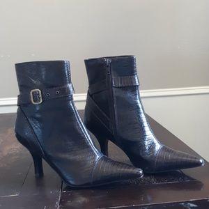 Antonio Melani leather snake embossed style bootie